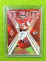 PATRICK MAHOMES PRIZM CARD JERSEY #15 CHIEFS SP #/299 RED REFRACTOR 2019 Phoenix