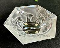 Baccarat French Crystal Elephants Bowl Ashtray New in Box Mint Signed