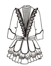 """Dress outfit French German Victorian Pattern 20"""" 21"""" Or 15 -16"""" U pick size"""