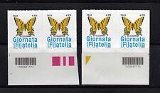 ITALIA 2016: CODICE A BARRE 1774 = GIORNATA DELLA FILATELIA = COPPIE  NUOVE**
