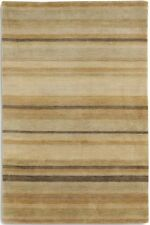 STRIPED REGATTA REG03 Gold HIGH QUALITY Modern Handmade Wool Rugs & Runner -40%