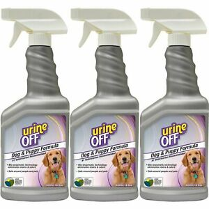 3 x Urine Off Dog and Puppy Spray for Hard Surfaces 500ml Remove Old Fresh Stain