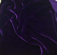 """SILK RAYON VELVET SOLID FABRIC 45""""W COSTUMES, APPAREL,UPHOLSTERY 35COLOR BY YARD"""