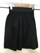 Aritzia Wilfred Women's Size 0 Zero Black Silk Skirt High Waisted