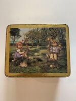 Vintage HUMMEL Apple Tree Boy And Girl Collectible Tin Made In England