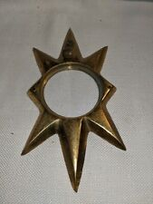 Vintage Heavy Brass Star Door Knocker part