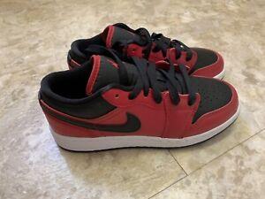 Nike Air Jordan 1 Low Black/Red - UK 4 GS Brand New
