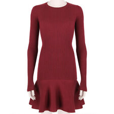 Stella McCartney weinrot rot Form-Fitting ausgestellter Saum Kleid IT44 UK12