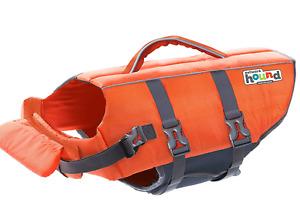 Outward Hound Dog Life Jacket Adjustable Safety Reflective Vest Orange Size XS