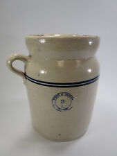 Stone and Duncan pottery butter churn stoneware crock Mississippi Amory 3 gallon
