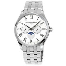 Frédérique Constant Men's FC-260WR5B6B Quartz Moonphase Silver-Tone 40mm Watch