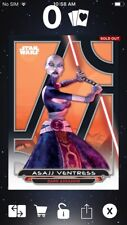 Topps Star Wars Digital Card Trader Galactic Files Clone Wars Asajj Insert Award