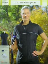 Sehr leichte Damen Laufweste Walkingweste Jogging Wandern schwarz Gr.S,L,XL NEU