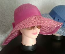 Ladies Pink Foldable Summer Sun Hat. BNWT
