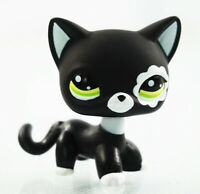 2'' Littlest Pet Shop LPS #2249 Black Cat Green Eyes Kids Toys Short Hair