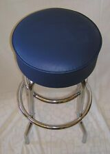 Blue Bar Stool Stools Counter Top Chair Seat Rec Room Kitchen - Awesome - NIB