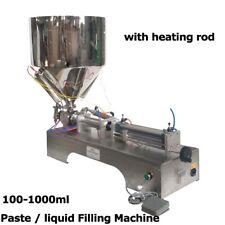 Best Updated 110V 100-1000ml Paste liquid Heating Filling Machine Single Button