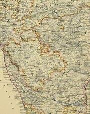1880 Ancien Carte Inde Sud Feuille ~ Ceylan Madras Burma Maisur Bombay