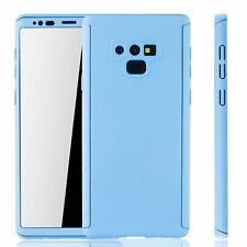Samsung Galaxy Note 9 Handy-Hülle Schutz-Case Full-Cover Schutzfolie Hellblau
