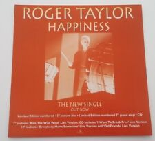 Roger Taylor (QUEEN) Happiness ORIGINAL SHOP PROMO DISPLAY size:12x12 inches