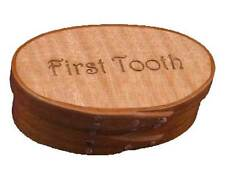 Shaker Memories First Tooth Box with Cherry Bands and Flame Maple Top; Lacquer F