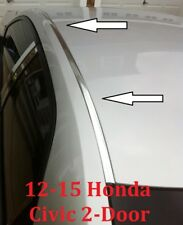 For 2012-2015 HONDA CIVIC CHROME ROOF TRIM MOLDING KIT - 2 Door Coupe