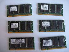 Portatile Memory 6 x 256MB PC2100 DDR 266 LOTTO PC2700 1.5GB di ram affare