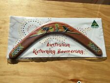 "Australian Made 14"" carded timber throwing boomerang 'Sunset' design"
