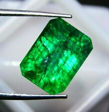 Natural Loose Gemstone 8 Ct Certified Green Colombia Emerald