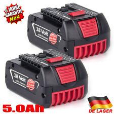 2x 18V 5,0AH Batterie für Bosch BAT609 BAT609G BAT618 BAT618G BAT619 BAT619G Neu
