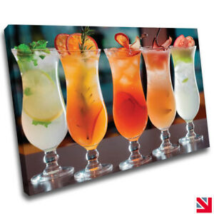 Drink Fruit Cocktail Kitchen CANVAS Wall Art Picture Print A4