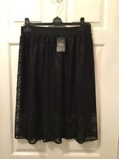 Fabulous New Black Lacy Lace Skirt from Next - Originally £40 !! Size 8