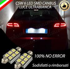 COPPIA LUCI TARGA 6 LED PER AUDI A3 SPORTBACK CANBUS NUOVOMODELLO 100% NO AVARIA