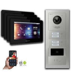2-Draht BUS IP Video Gegensprechanlage - 4-Familienhaus RFID Anzeige