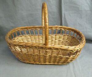 Wicker Basket Shopping Picnic with Handle Storage