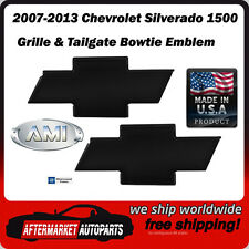 07-13 Silverado 1500 Black Billet Bowtie Grille & Tailgate Emblem AMI 96100K