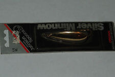 Johnson's Silver Minnow 1/2 oz!! Gold Black Label Spoon Weedless Fishing Lure