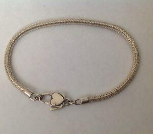 Vintage Sterling Java Chain Bracelet, Awesome Clasp Konder #321