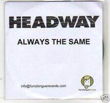 (F940) Headway, Always the Same - DJ CD