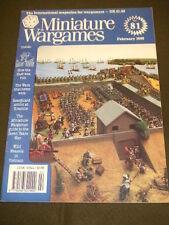 MINIATURE WARGAMES - SEVEN YEARS WAR - Feb 1990 # 81