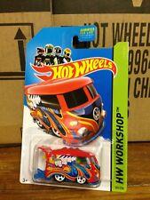 Hotwheels 2014 Volkswagen Kool Kombi Van Red Workshop 5 spk VW HW Cool MONMC HTF