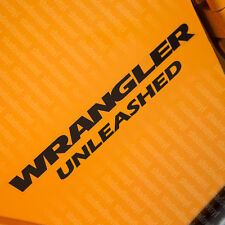"JEEP Wrangler Unlimited ""UNLEASHED"" Vinyl Decal Sticker YJ TJ JK Sahara SET OF 2"