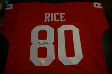 JERRY RICE AUTOGRAPH SIGNED SAN FRANCISCO 49ERS CUSTOM JERSEY WITH HOLOGRAM