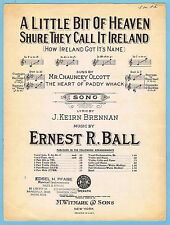 A LITTLE BIT OF HEAVEN SHURE THEY CALL IT  / HEART OF PADDY WHACK (1914 MUSICAL)
