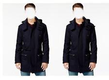 $150 Macys AMERICAN RAG Slim Wool Coat MEDIUM Navy Blue sailor pea coat