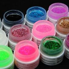 Coscelia New 12 Color Glitter UV Builder Gel Polish Nail Art Tips Tool Gel Kits