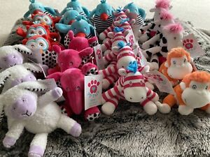 Wholesale Joblot 25 X Brand New With Tags Soft Toys- Posh Paws