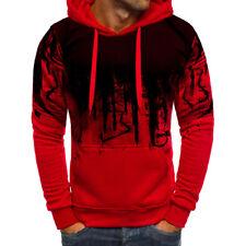 Men Winter Slim Casual Hoodie Warm Hooded Sweatshirt Coat Jacket Outwear Sweater