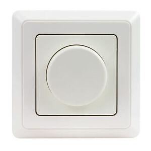 REV LED-Dimmer inkl. Rahmen, Phasenabschnitt, nur 5 W Mindestlast, Einbaumaß 50