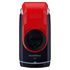 Braun M60 Mobile Washable Pocket Travel Shaver, Red